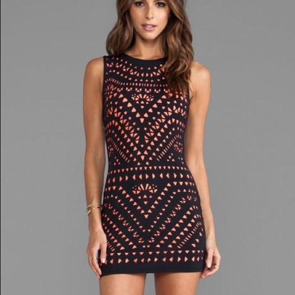 Laser Cut Mini Dress